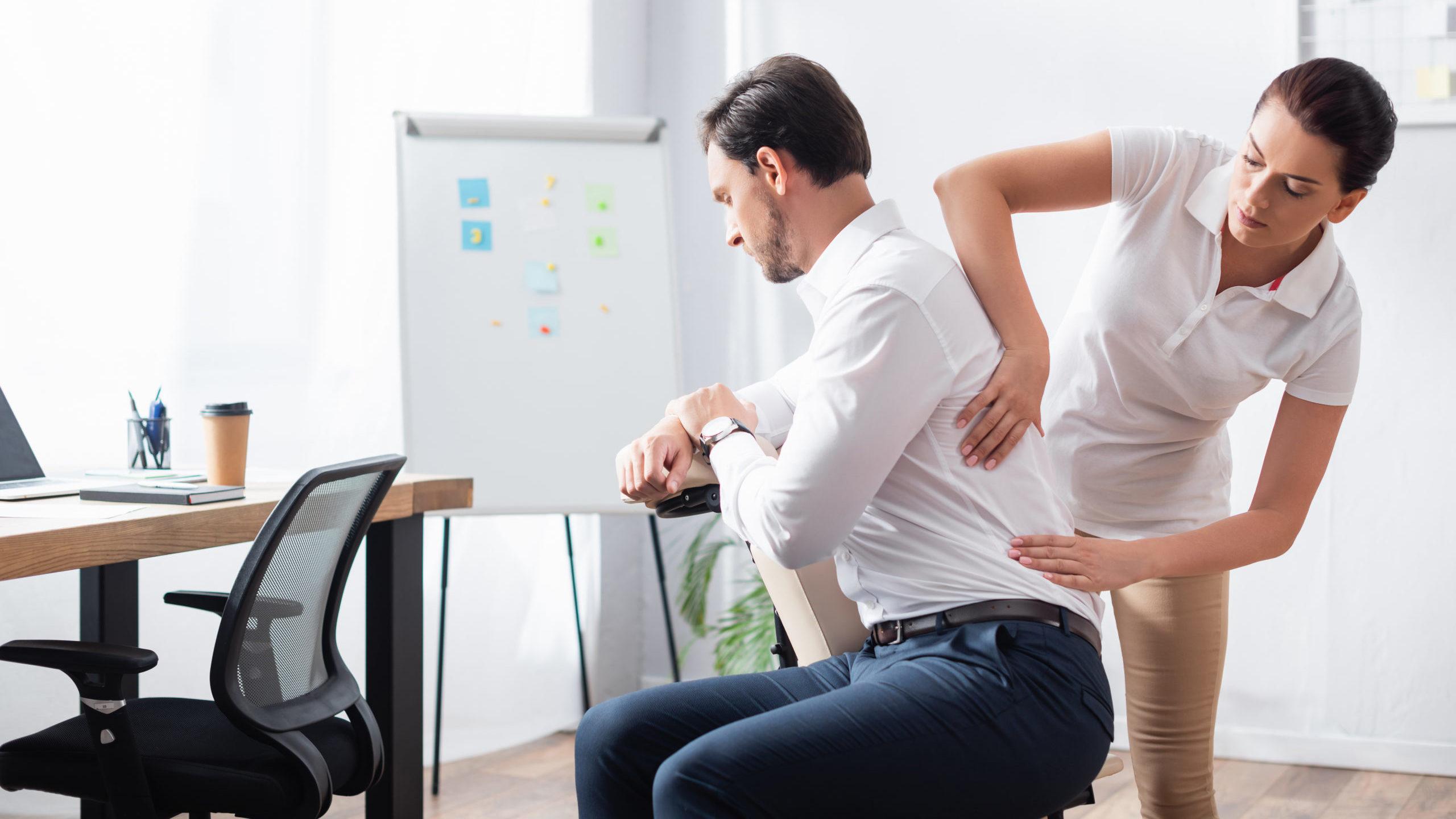 Massage im Büro
